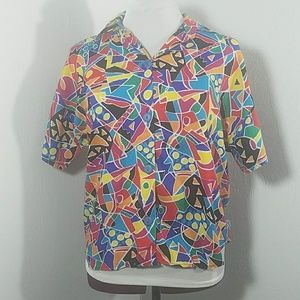 Abstract vintage top